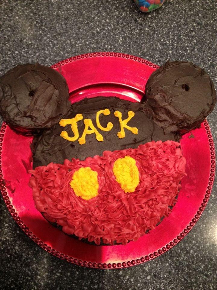 Mickey Mouse Birthday Cake! @Lisa Grannan