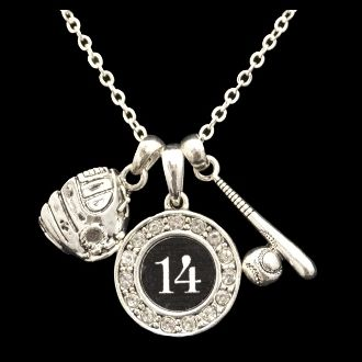Custom Number Baseball Necklace