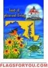 Land of Pleasant Living Garden Flag