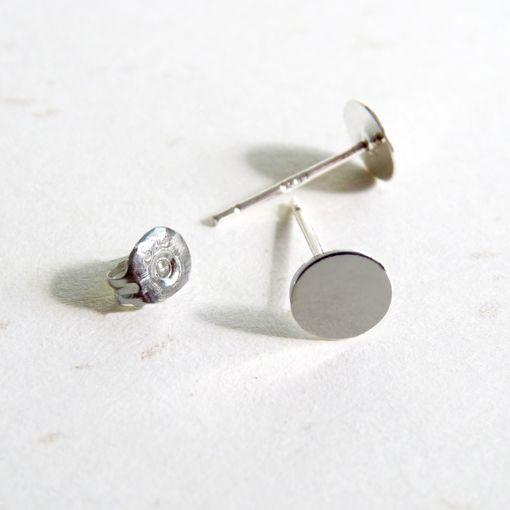 Tienda online www.cuentaabalorios.com Bases de pendientes de plata.