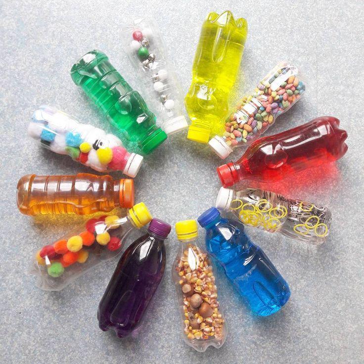 La jolie collection de bouteilles sensorielles dont raffole mon bbhellip