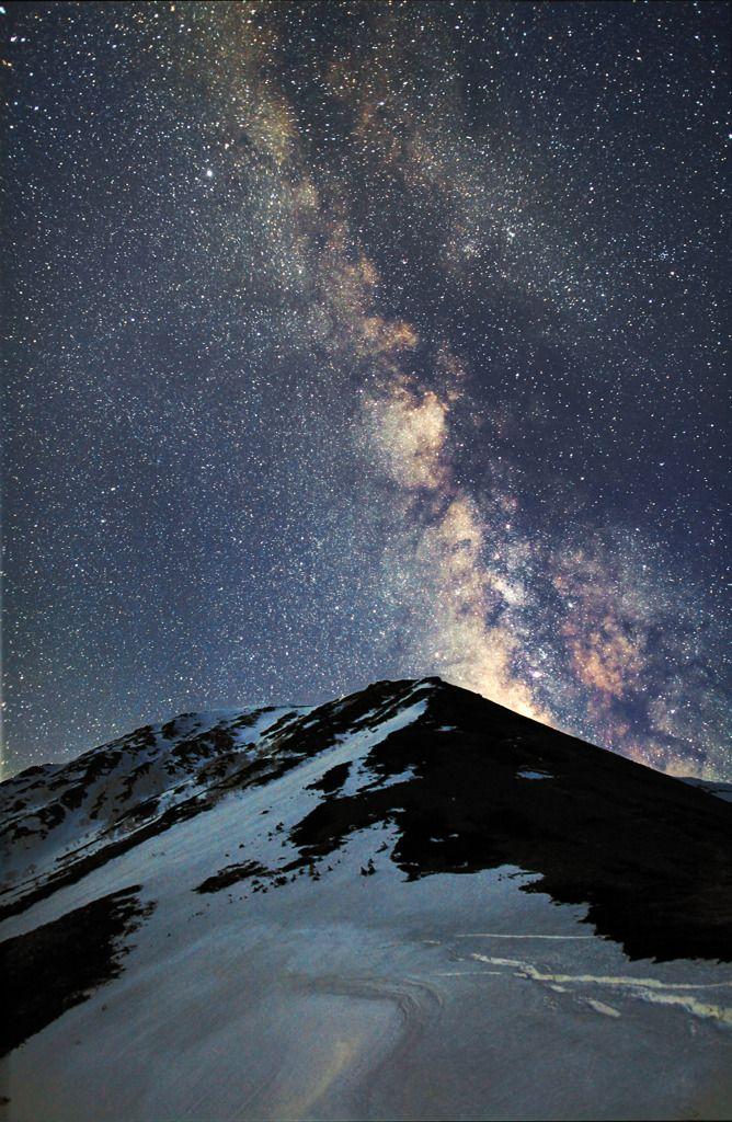 CANON(キヤノン)のカメラ Canon EOS 5D Mark IIで撮影した風景(常念に昇る天の川)の写真(画像)