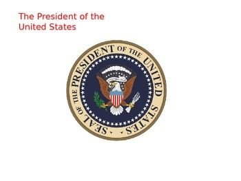 This 116-slide PowerPoint covers almost all aspects of the role of the President and the executive branch.   Comes complete a Microsoft Word guided notes.  ***Updated to show changes to key positions following the Presidential Election of 2016***Slide topics include:  Requirements for Office, Ages of Presidents, Longevity of Presidents, Terms, The Vice Presidency (roles, requirements, etc.), Presidential Succession, Campaigning for President, Primary and Caucuses, Curse of Tippecanoe…