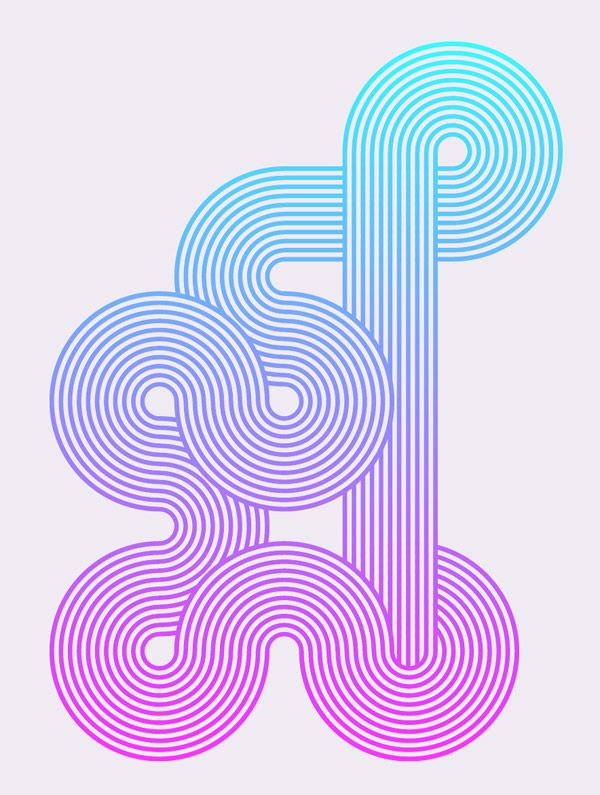 Line Art Tutorial Illustrator : How to create geometric stripy line art in illustrator