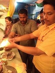 Yogesh Mokate (Corporator Kothrud Pune) Performing sri krishna abhishek @ISKCONPune