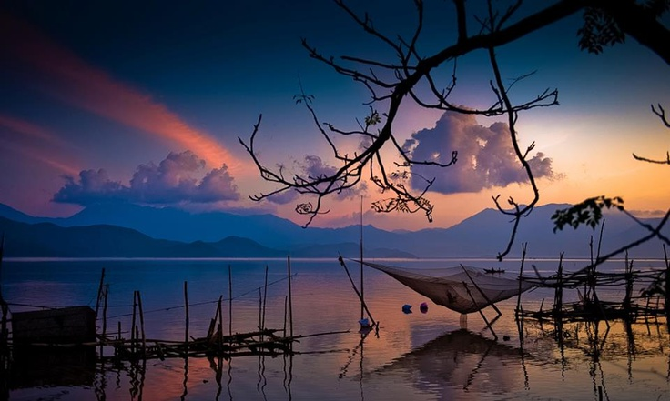 Tam Giang Lagoon , Hue, Vietnam