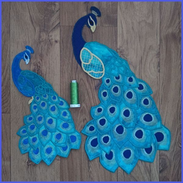Large Peacock Applique - Free Instant Machine Embroidery Designs
