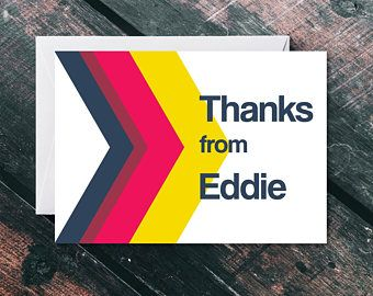 Personalised Thank You Card - Thank You Card Bulk - Thank You Card Pack - Thank You Card Set - Personalised Card - Arrow Thank You Card