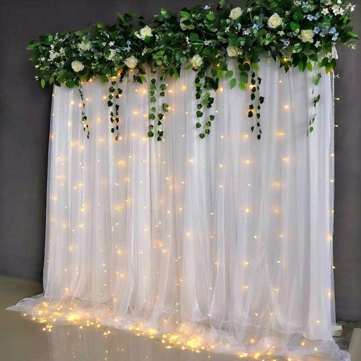 Wedding Backdrop Curtain Wedding Backdrop Fabric Tulle Etsy In 2020 Diy Wedding Backdrop Tulle Backdrop Wedding Backdrop