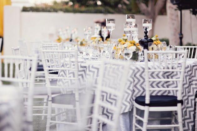 Yellow, Grey and Chevron Modern Palm Springs Wedding | Bridal Musings