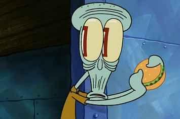 Spongebob Eating Canned Food