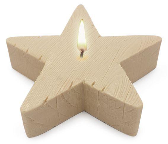 Molde para velas centro de mesa, Estrella Textura Madera. http://www.granvelada.com/es/molde-velas-flores-flotantes/3647-molde-para-velas-centro-de-mesa-estrella-grande.html?utm_source=Pinterest&utm_campaign=HacerVelas&utm_medium=SOCIAL&utm_publish=RSS