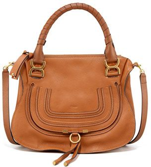 $1,990, Tan Leather Satchel Bag: Chloé Chloe Marcie Satchel. Sold by Neiman Marcus. Click for more info: https://lookastic.com/women/shop_items/34226/redirect