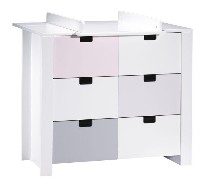 Cheap commode tiroirs city rose avec dispositif langer for Chambre zen rivage