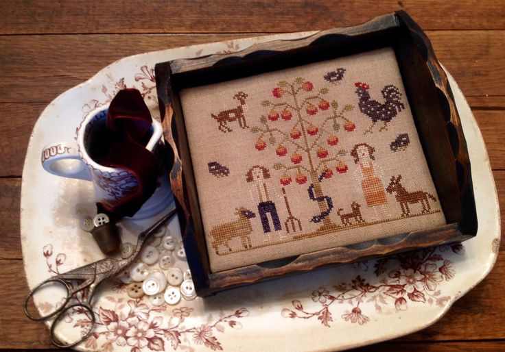 A personal favorite from my Etsy shop https://www.etsy.com/listing/400090917/adam-eve-on-the-farm-sewing-tray-kit