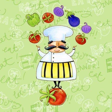 chef.quenalbertini: Veggie Chef by Ronnie Rooney