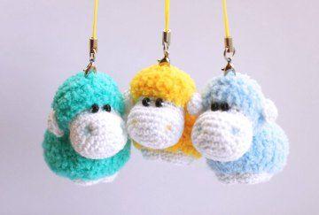 Amigurumi Sheep Keychain - Free English Crochet Pattern
