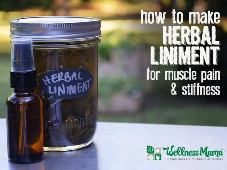 This easy Herbal Liniment uses witch hazel and dried herbs for a powerful sore muscle fighter with peppermint, menthol, cayenne, ginger, etc.