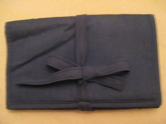UnUsed Lespace Blue Jewelry Roll Jewelry by vtseredipityboutique