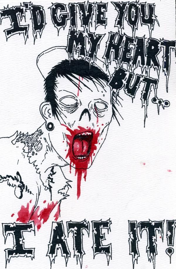 Valentines For The Disturbed a collection of ideas to try about – Zombie Valentines Cards
