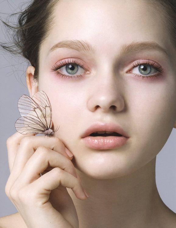 Katiusha Feofanova for Shu Uemura's mascara campaign