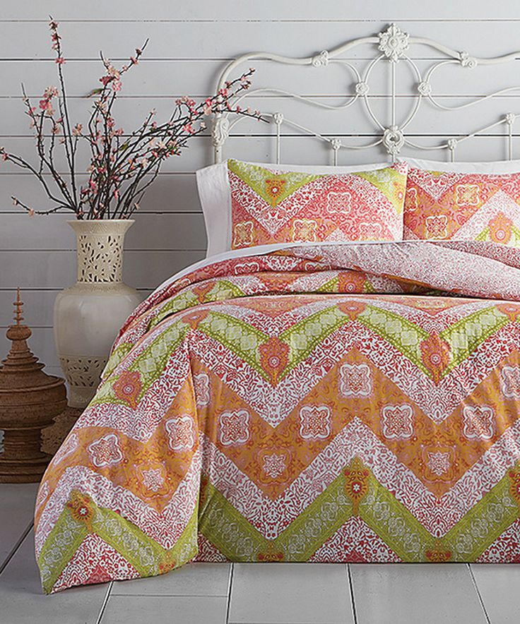 Take a look at this Jessica Simpson Bali Chevron Comforter Set today!