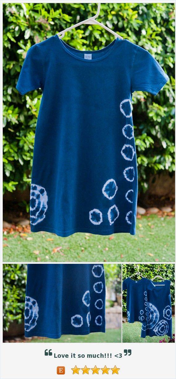 Shibori GIRLS A-Line Summer Dress, Side Simple circles https://www.etsy.com/listing/400716021/
