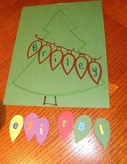 cute letter name matching activity - Christmas ornaments as letters - could be used with other holiday materials