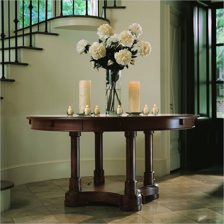 Round foyer table decor google search decorating ideas Round table decoration ideas
