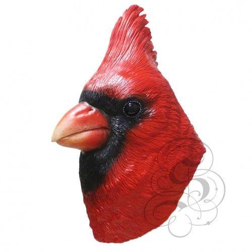 Latex Cardinal Bird Mask