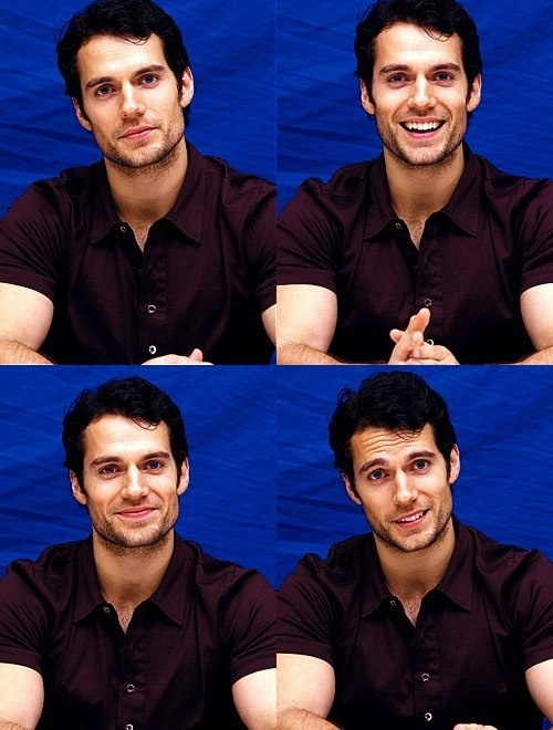 Henry Cavill. I almost fell out of my chair when I saw the bottom right picture. Literally.