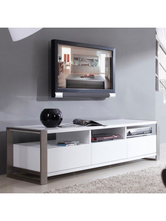 Stylist TV Stand in High Gloss White   BM-110-WHT   B-Modern