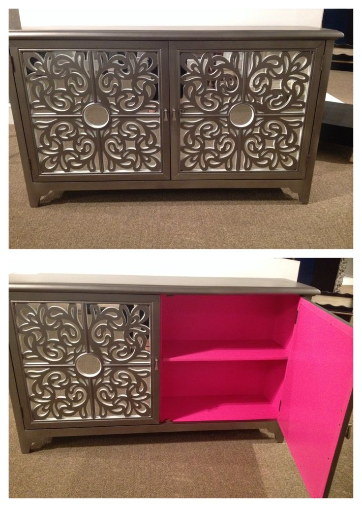 Grey and pink! How could you go wrong?  This Accentrics Home accent console will add a beautiful touch to any room.