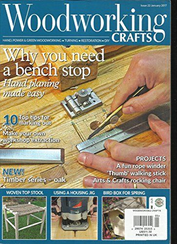 Wood Working Crafts Magazine Hand Power Green Woodworking January