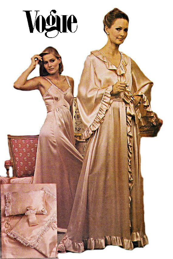 80s Vogue Penior Set Robe Long Nightgown by TheGrannySquared