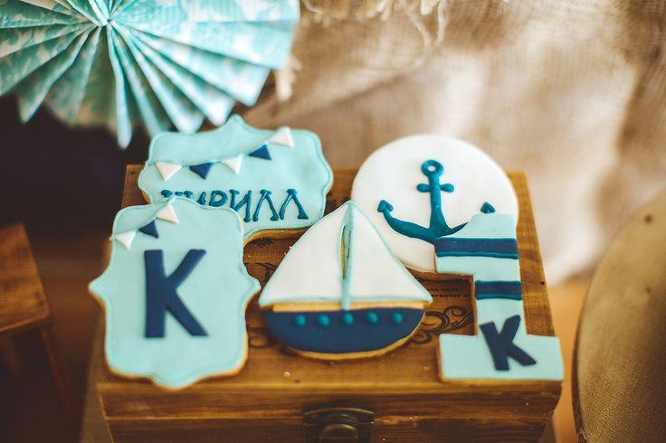 first birthday boy sea party decor cookies  decor by Julia Shteyzel декоратор Юлия Штейзель