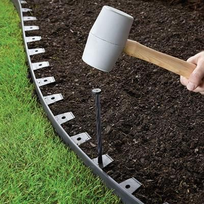 landscape edging and paver edging kit edging and accessories are black in color - Garden Edging