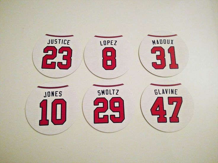 Atlanta Braves Jersey Magnets - Legends Stars Retired players  2.75 inch magnets #AtlantaBraves $1.99 each