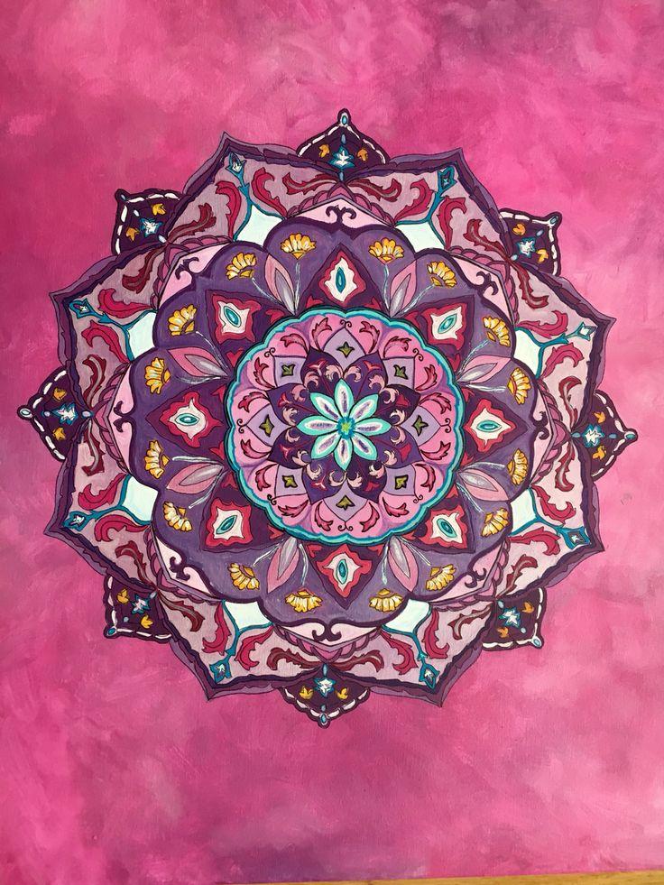 Mandala acrílicos 60x60