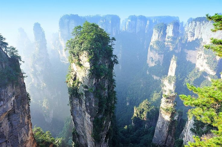 Split Pinnacles, China These stunning split pinnacles are found in the South central China close to the Yangtze River.