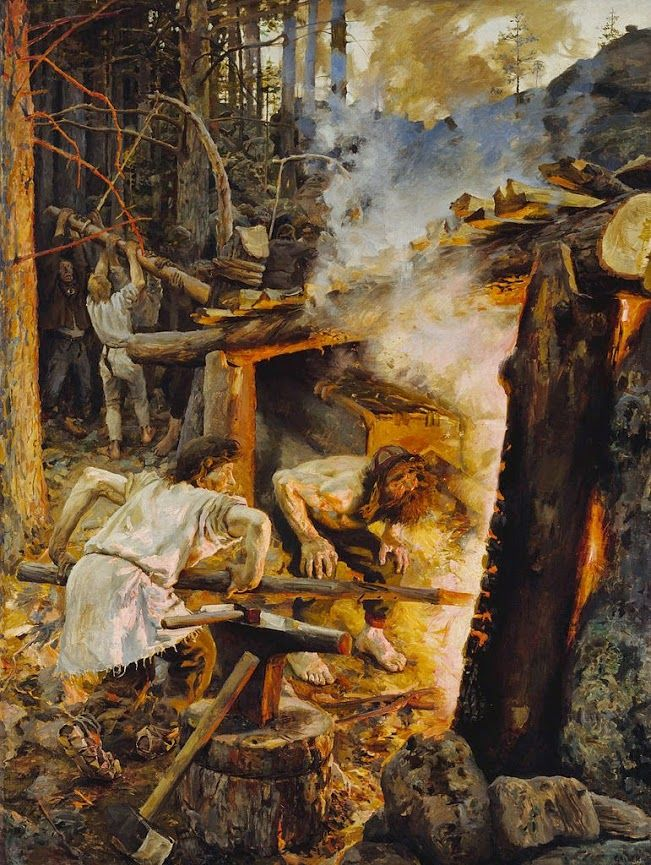 Akseli Gallen-Kallela (26 aprilie 1865 - 7 martie 1931)   - The Forging of the Sampo