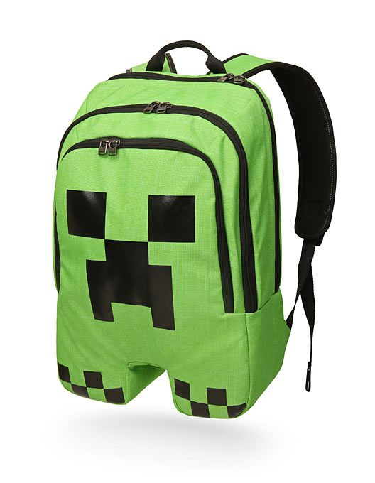 MINECRAFT CREEPER BACKPACK—I know I'm a girl, it's kinda weird, but can I please have this backpack!!!