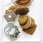Lemon Meringue-filled Gingersnap Snowflake Cookies Recipe   MyRecipes.com