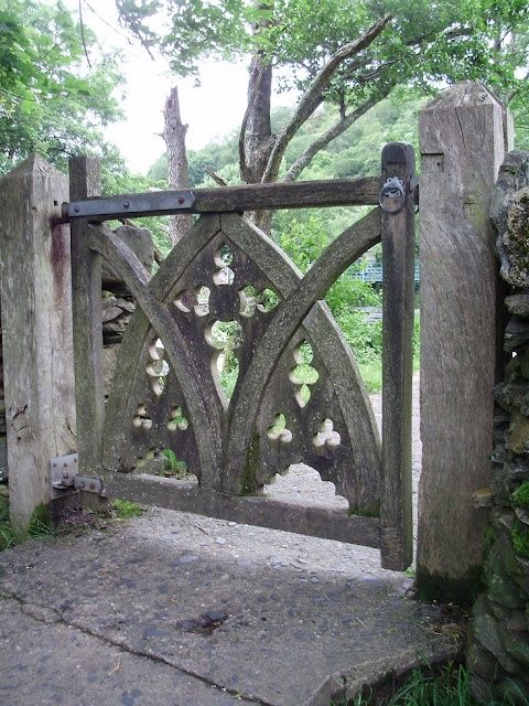 Gothic gate - the sort of gate you would see in the UK leading into a cemetery.
