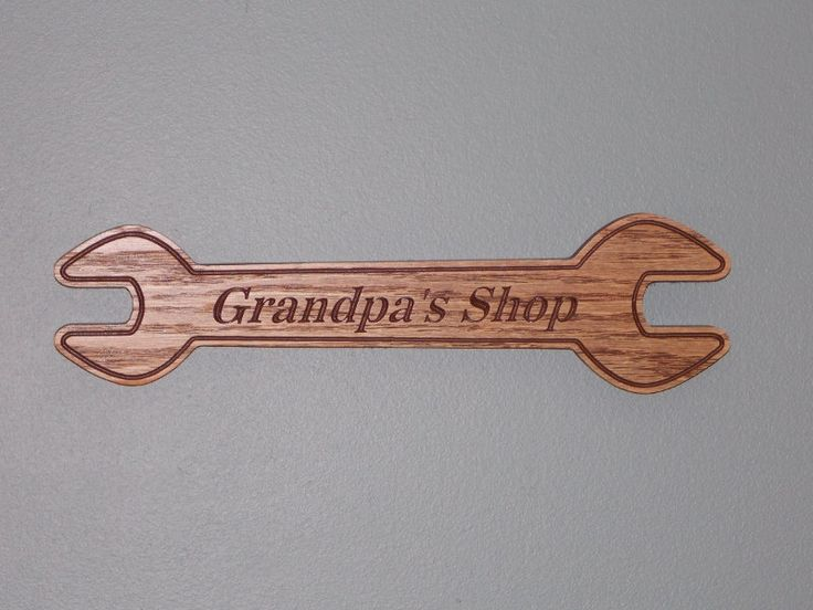 CNC Carved Grandpa's Shop Sign