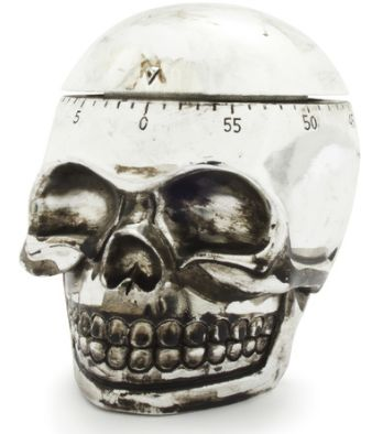 Skull Kitchen Timer. Ahh, yesss, the delicious  poisoned casserole will be ready soon, hope you enjoy your meal.......