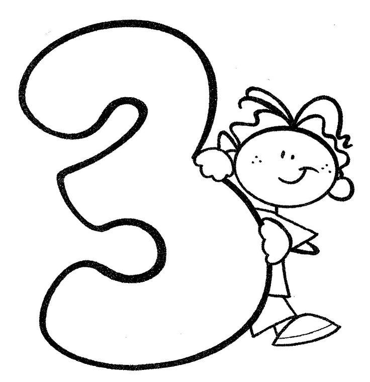 Material Didáctico Para Niños. Número 3, Para Imprimir