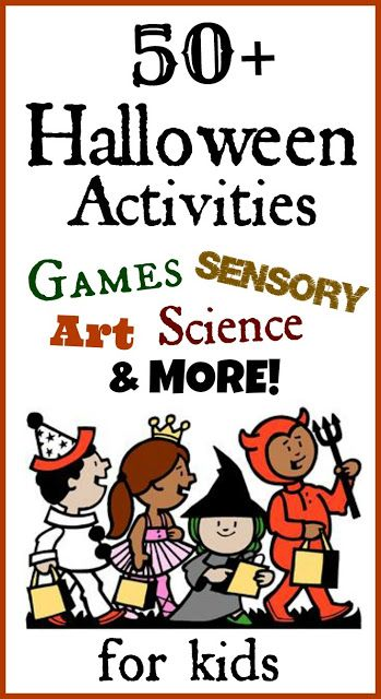 Over 50 of the BEST Halloween Activities for Kids- AWESOME ideas for art, sensory play, fun recipes, Science experiments, treats, and MORE!