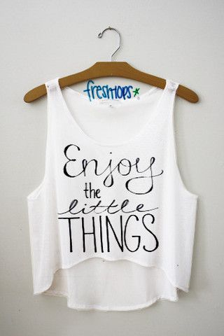 Enjoy the little things crop top
