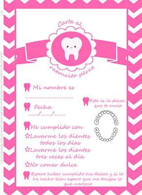 Carta del ratoncito Pérez para #imprimir #gratis